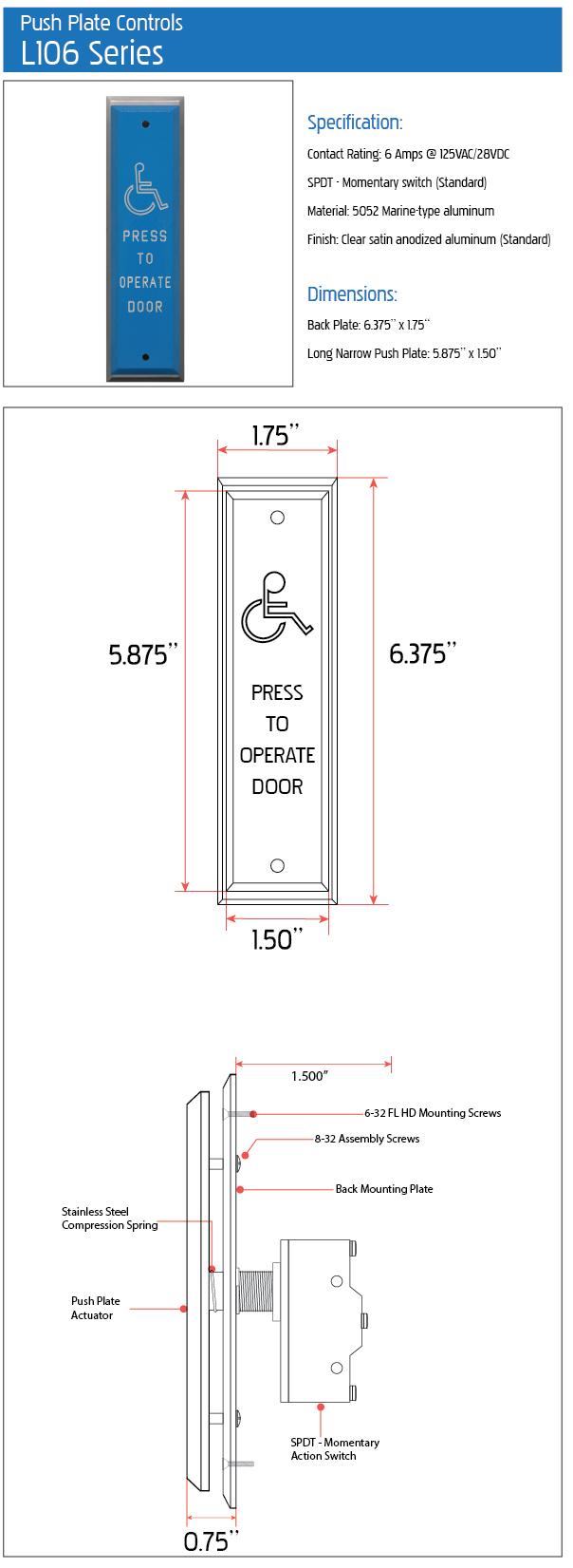 push plate spec sheet