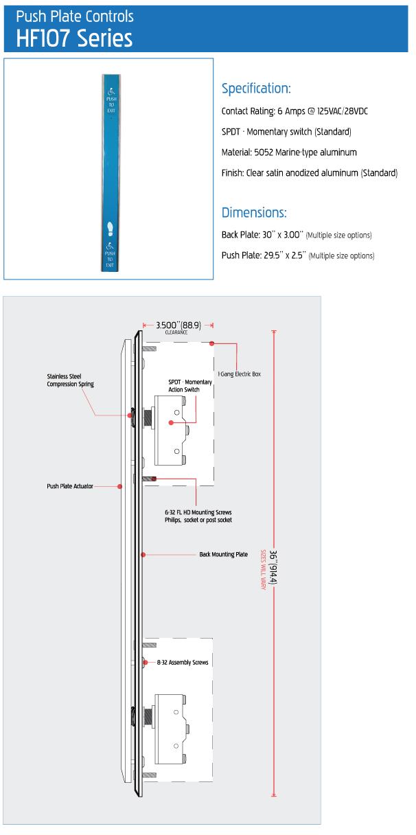 HF107 Series Push Plates