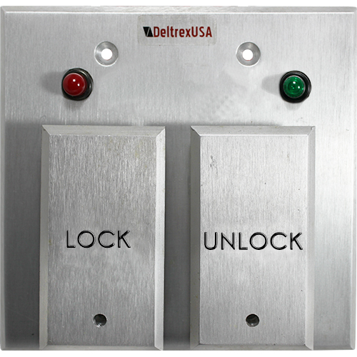 deltrex push plate door security