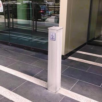 Bollard Posts control access