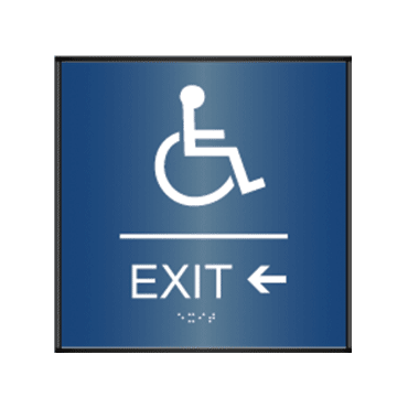 Handicap Interior Door Sign