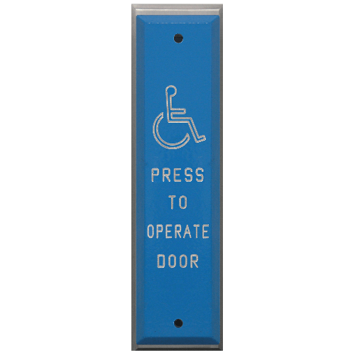 Press To Operate Door Plate