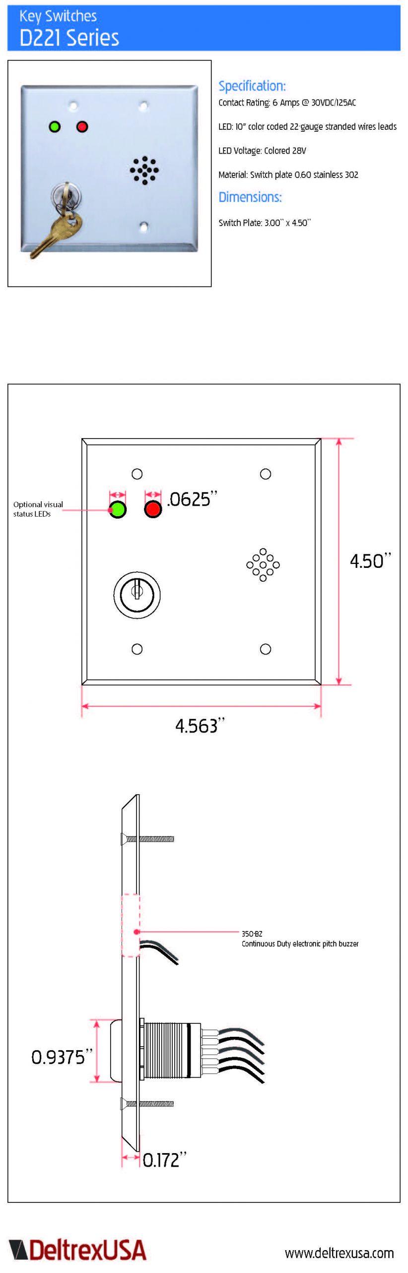 d222 keyswitch spec sheet